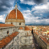 High Angle View of the Florance with the Dome of the Basilica of Saint Mary of the Flower, Tuscany, Italy