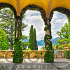 Lake View Through the Arches of a Villa Terrace