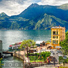 High Angle View of the Varenna Harbor on Lake Como, Lombardy, Italy