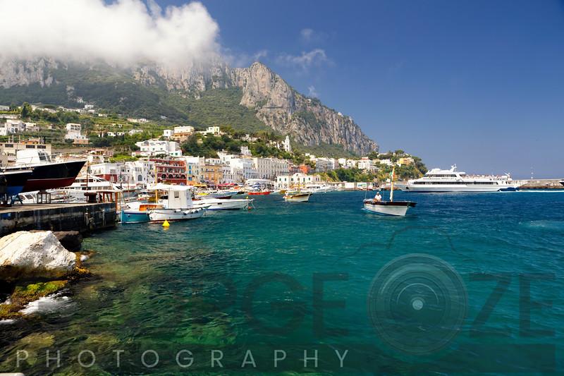 Capri Coastline View at Marina Grande, Campania, Italy
