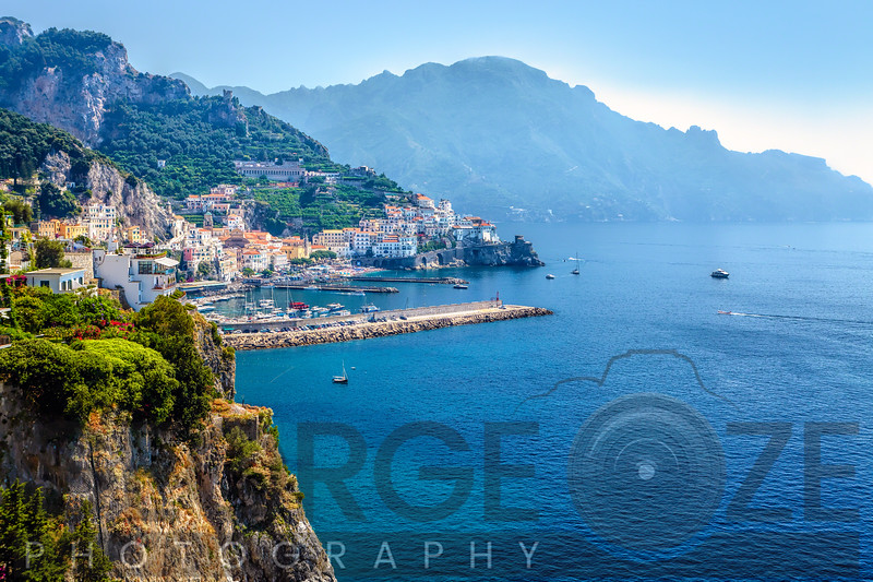 Amalfi Town on the Mediterranean Sea, Italy