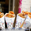 Close Up of Fried Shrimp and Calamari Filled Cones, Riomaggiore, Liguria, Italy