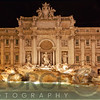 Night View of the Trevi Fountain, Rome, Italy