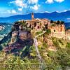 View of an Ancient Hill top Town, Civita di Bagnoregio, Umbria, Italy