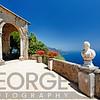 Amalfi Coast Vista from a Terrace, Villa Cimbrone, Ravello, Campania, Italy