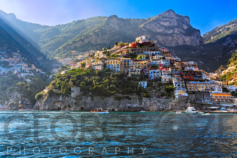 Cliffside Town of Positano Viewed from the Sea