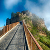 Walkway Leading Up to a Hilltop Town, Civita di Bagnoregio, Italy