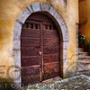 Old Door of a Medieval Building, Sermoneta, Italy