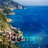 Cinque Terre Towns Along the Coast, Vernazza and Corniglia, Liguria, Italy