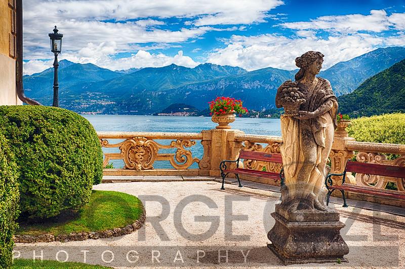 Lake View From a Villa Terrace, Lake Como, Italy