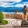 Lake View From a Villa Terrace, Lake Como, Italy