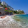 People Sunbathing on a Beach, Caprim Campania, Italy