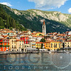 View of a Town on Lake Como, Varenna, Lombardy, Italy