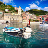 Close Up View of a Small Boat in a Harbor, Vernazza, Cinque Terre, Liguria, La Spezia, Italy