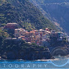 Small Town on a Cliff at Seaside, Corniglia, Cinque Terre, Liguria, Italy