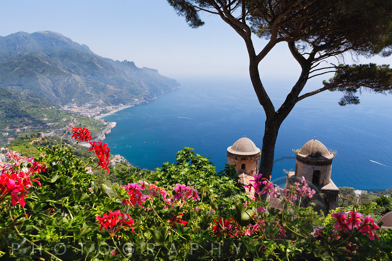 Scenic Vista of the Amalfi Coast at Ravello, Campania, Italy