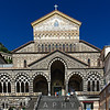 Frontal View of the Saint Andrew Cathedral, Amalfi, Campania, Italy