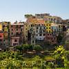 High Angle Panormaic View of a  Coastal Towm, Corniglia, Cinque Terre, Liguria, Italy