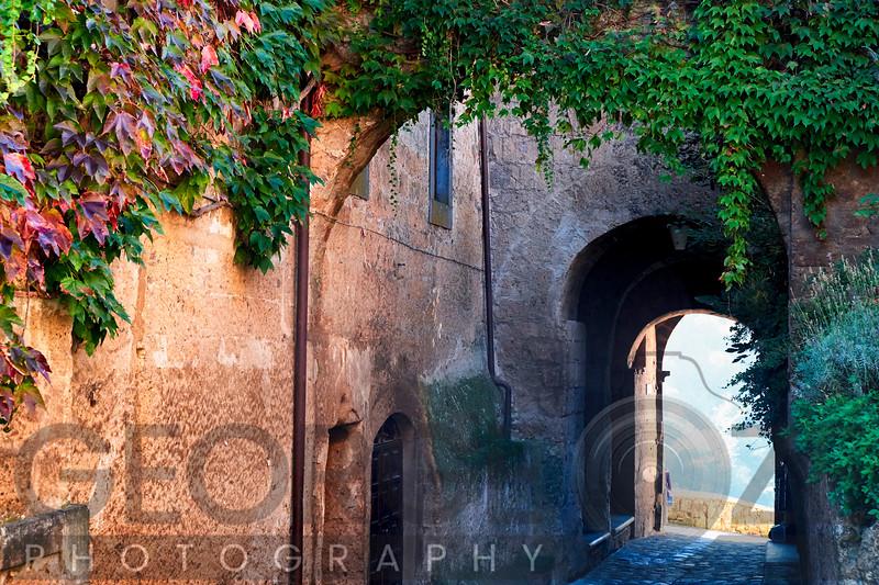 Entrance Gate of a Hilltop Town, Civita Di Bagboregio, Unbria, Italy