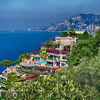 High Angle View of a Luxury Hotel IL San Pietro, Positano, Campania, Italy
