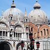 View of the St Mark's Basilica, Venice, Veneto, Italy