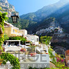 Morning View of a Hillside Town, Positano, Amalfi Coast, Camapania, Italy