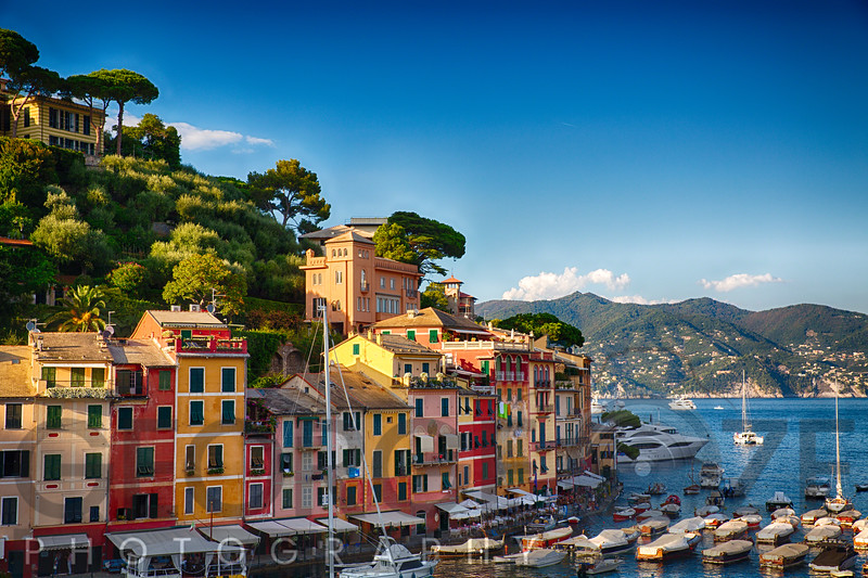 Clorful Harbor Houses in Portofino, Liguria, Italy