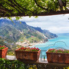 Scenic View from Under a Trellis, Ravello, Amalfi Coast, Campania, Italy