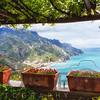 Scenic View from Under a Trellis, Ravello, Amalfi Coast, Campania, Italy