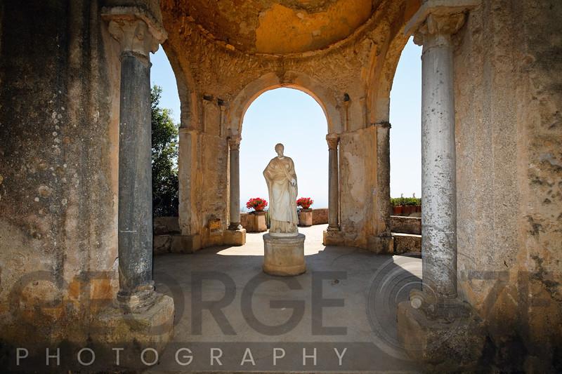 Antique Garden Pavilion with a Woman's Sculpture, Villa Cimbrone, Campania, Italy