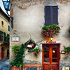 Quaint Restaurant Building in Pienza, Tuscany, Italy