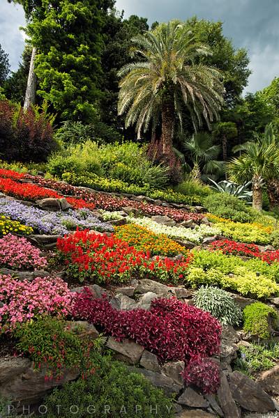 Colorful Rock Garden, Villa Carlotta, Tremezzo, Lake Como, Italy