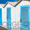 Close Up View of Beach Cabins, Positano, Campania, Italy