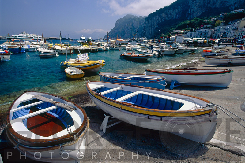 Close Up View of Small Boats on the Shore, Marina Grande, Capri, Italy