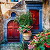 Classic House Entrance in Umbria, Italy
