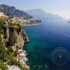 High Angle View of the Amalfi Coastline at Amalfi, Campania, Italy