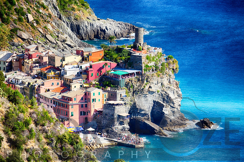 Small Town on the Cliff at Seasdide, Vernazza, Cinque Terre, Liguria, Italy