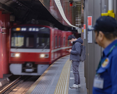Subway Platform; Subway.  Asakusa.