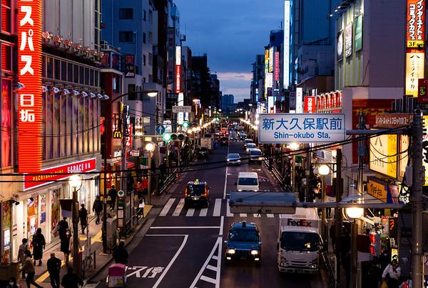Images from Shin-Okubo station platform.
