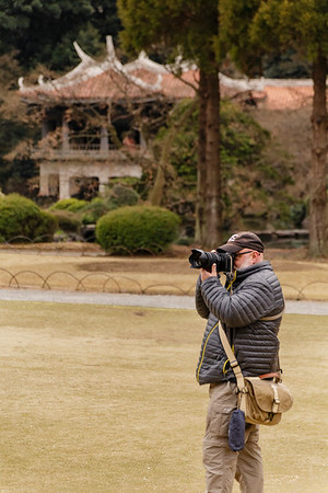Andy shooting at Shinjuku Gyoen National Garden