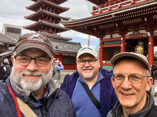 Andy, Jim, and Mark at Sensoji Temple.