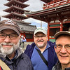 Andy, Jim, and Mark at Sensoji Temple.