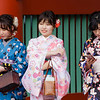 Young ladies in Kimonos.  Sensoji Temple area; Asakusa