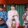 Young ladies in Kimonos.  Sensoji Temple area; Asakusa