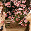 Friends photograph each other at Shinjuku Gyoen National Garden