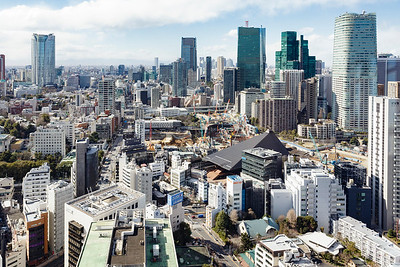 View northwest from Tokyo Tower.