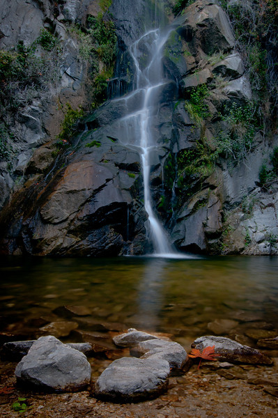 Sturtevant Falls in Santa Anita Canyon. Arcadia, CA. An early fall day.