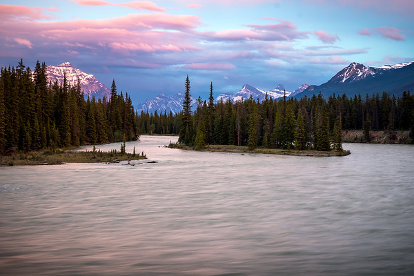 Athabasca River. Jasper National Park, Alberta Canada