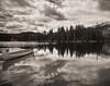Canoe. Jasper National Park, Canada