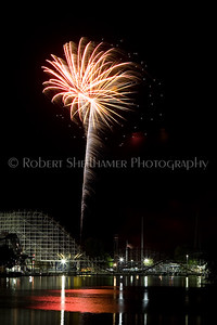 Fireworks over Indiana Beach